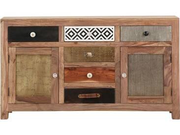 Gutmann Factory Sideboard »Safari«, 2 Holztüren und 6 Schubladen mit dekorativen Fronten, natur, natur