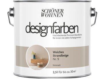 SCHÖNER WOHNEN-Kollektion SCHÖNER WOHNEN FARBE Farbe »Designfarben«, Weiches Strandbeige Nr. 9, feinmatt 2,5 l, natur, 2.5 l