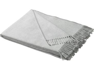 BIEDERLACK Plaid »Conny«, mit Fransen, grau, Baumwolle-Kunstfaser, hellgrau