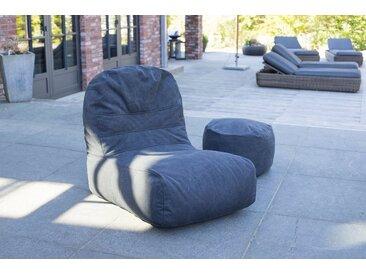 OUTBAG Sitzsack »Bridge Canvas«, für den Außenbereich, BxT: 65x95 cm, schwarz, schwarz