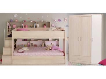 Parisot Kinderzimmer-Set »Bibop« (2-tlg.), Mit Bettschubkasten, akazienfarben