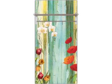 Artland Wandgarderobe »Jule: Bunte Blumen«, 120 x 60 x 2,8 cm, Farbig