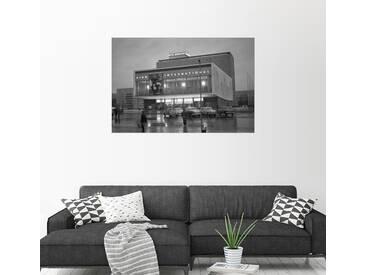 Posterlounge Wandbild - Manfred Uhlenhut »Kino International an der Karl-Marx-Allee«, grau, Leinwandbild, 30 x 20 cm, grau