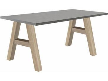 Mäusbacher Schreibtisch »Mio«, grau, eichefarben/graphit