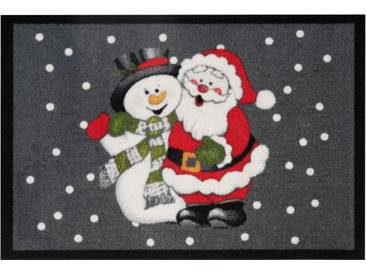HANSE Home Fußmatte »Santa Snowman«, rechteckig, Höhe 7 mm, grau, 7 mm, grau