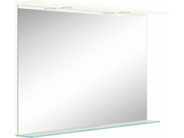 OPTIFIT Spiegel »Wien« mit LED-Beleuchtung, Breite 80 cm, weiß, weiß