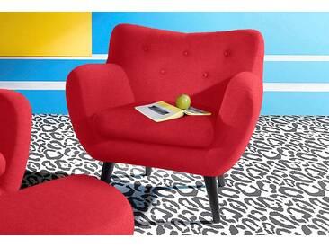 INOSIGN Sessel im Retro-Style, rot, rot