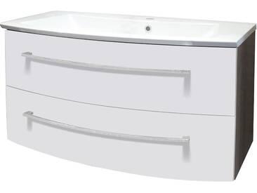 FACKELMANN Waschtisch »Rondo«, Breite 100 cm, (2-tlg.), eichefarben/weiß