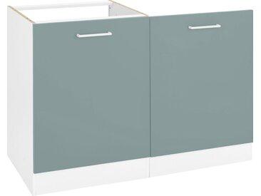 HELD MÖBEL Spülenschrank »Visby«, Breite 60 cm, inkl. Tür/Sockel für Geschirrspüler, grün, fjordgrün