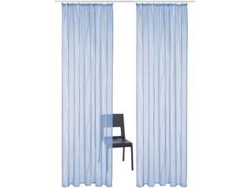 my home Gardine »Dimona«, Kräuselband (2 Stück), blau, Kräuselband, transparent, blau