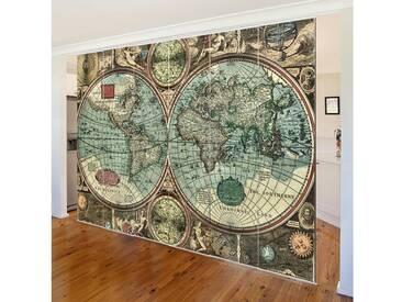 Bilderwelten Schiebegardinen Set »Die alte Welt«, Ohne Aufhängung, 250 x 360cm (6 Vorhänge), Farbig
