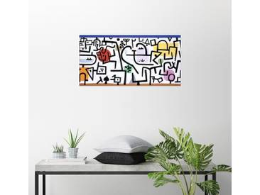 Posterlounge Wandbild - Paul Klee »Reicher Hafen (ein Reisebild)«, bunt, Leinwandbild, 40 x 20 cm, bunt
