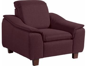 Max Winzer® Sessel »Alessio« mit abgerundeter Rückenlehne, rot, burgund