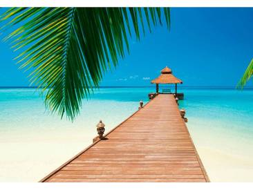 Fototapete »Paradies Strand« 366/254 cm, blau, (B/H): 366/254 cm, blau