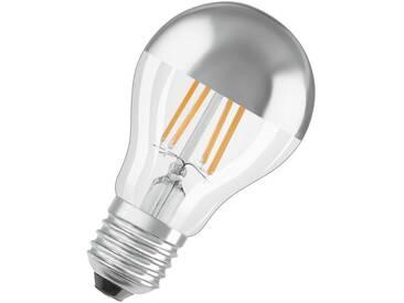 Osram LED Retrofit CLASSIC A Mirror Lampe, LED-Lampe »ST CLAS A 51 7 W/827 E27«, silberfarben, silber