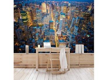 Bilderwelten Vliestapete Premium Breit »Midtown Manhattan«, blau, 225x336 cm, Blau