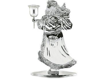 EDZARD Kerzenleuchter »Santa Claus«, versilbert und anlaufgeschützt, silberfarben, 13x20 cm, silberfarben