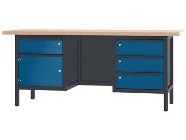 PADOR Werkbank »31 S 263/20 R«, Höhe: 85,5 cm, blau, anthrazit/blau