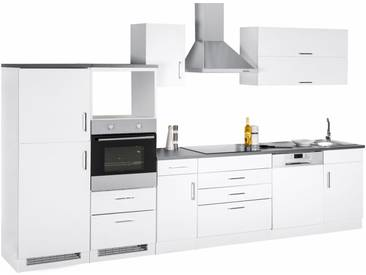 Küchenzeile »Graz«, ohne E-Geräte, Breite 350 cm, weiß, weiß