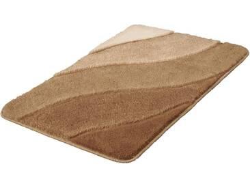 Kleine Wolke Badematte »Serenade« , Höhe 20 mm, rutschhemmend beschichtet, fußbodenheizungsgeeignet, braun, 20 mm, taupe