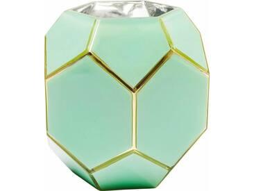 KARE Design Vase Art Pastell, grün, (Ø/H): 17/16,5 cm, grün
