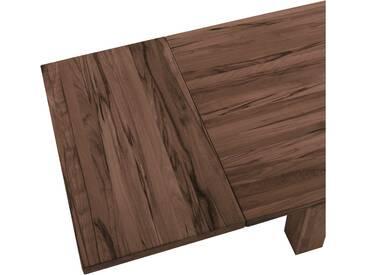 VENJAKOB Alu-Auszug »Andiamo Bootsform«, Graniteinlage und Holzansteckplatte, braun, Für Tischbreite 100cm, Nussbaum