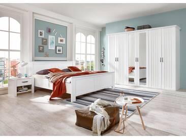 Wimex Kleiderschrank »Castell«, weiß, Breite 277 cm, 6-türig, ohne Aufbauservice, ohne Aufbauservice, weiß