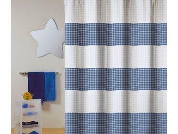 MSV Duschvorhang »PREMIUM QUADRO BLAU«, Breite 180 cm, blau, blau