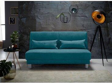 INOSIGN Schlafsofa »Gina«, mit einem Handgriff vom Sofa zum Bett, grün, 160 cm, türkis
