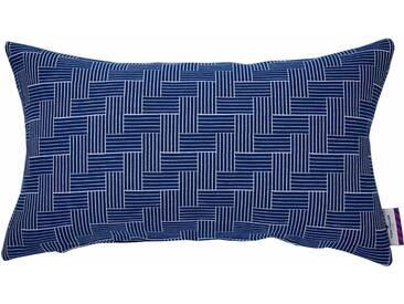 Tom Tailor Kissenhüllen »TWISTED STAIRS«, blau, Mischgewebe, blau-weiß