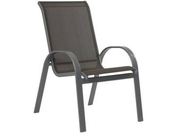 MERXX Gartenstuhl »Amalfi«, (2er Set), Alu/Textil, stapelbar, braun, 2 Stühle, taupe