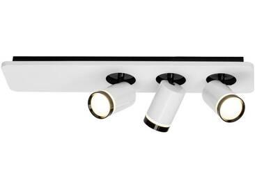 AEG Sol LED Spotbalken 3flg weiß-glänzend/schwarz, weiß, weiß-glänzend/schwarz