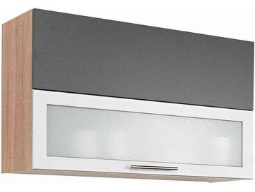 wiho Küchen Faltlifthängeschrank »Montana« Breite 90 cm, grau, anthrazit/ eiche