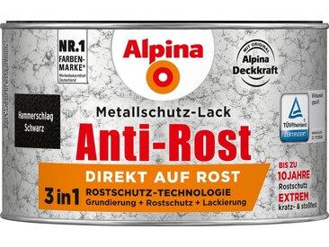 Alpina ALPINA Metallschutzlack »Anti-Rost Hammerschlag«, Schwarz, 300 ml, schwarz, schwarz