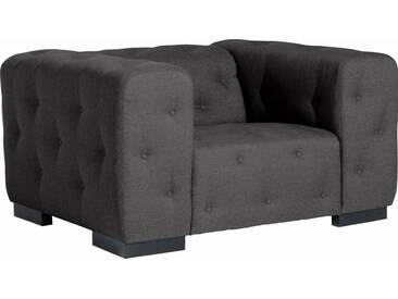 Max Winzer® Sessel »York« mit Knopfheftung, Breite 130 cm, grau, anthrazit