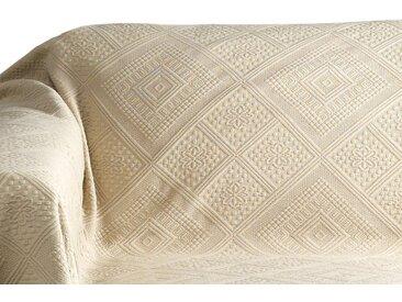 Pereira da Chuna PEREIRA DA CUNHA Sofaüberwurf mit Hoch-/Tief-Struktur, braun, taupe