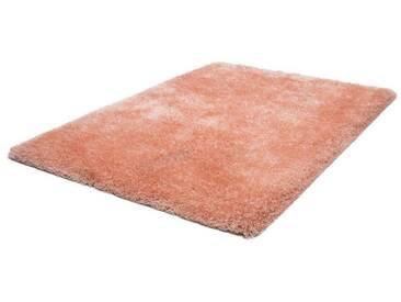 LALEE Hochflor-Teppich »Monaco«, rechteckig, Höhe 45 mm, Besonders weich durch Microfaser, orange, 45 mm, apricot-pastell
