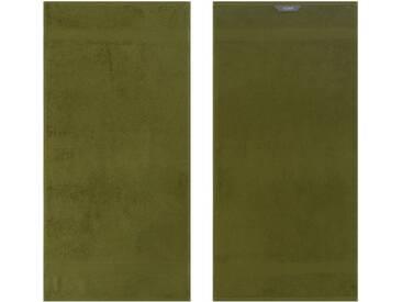 Egeria Badetuch »Diamant«, in Uni gehalten, grün, Frotteevelours, olivgrün