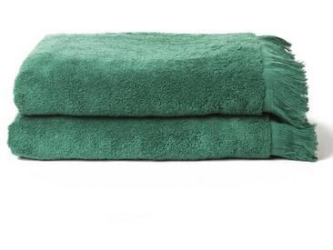 Casa di Bassi Handtuch Set »mit Fransenabschluss«, mit Fransenabschluss, grün, grün