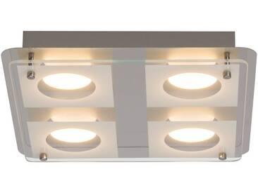 AEG Charon LED Wand- und Deckenleuchte 4flg chrom/transp. easyDim, silberfarben, chrom/transparent