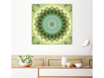 Posterlounge Wandbild - Christine Bässler »Mandala grüngelb«, grün, Acrylglas, 120 x 120 cm, grün