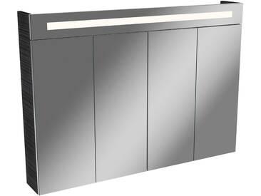 FACKELMANN Spiegelschrank »Twindy«, Breite 110 cm, 4 Türen, braun, silberfarben/eichefarben dunkel
