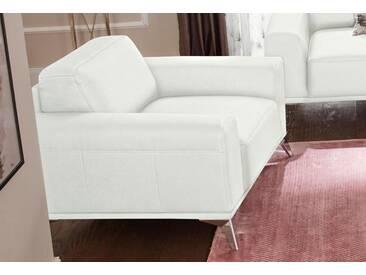 Guido Maria Kretschmer Home&Living GMK Home & Living Sessel »Tea II«, mit Metallfüßen, weiß, weiß