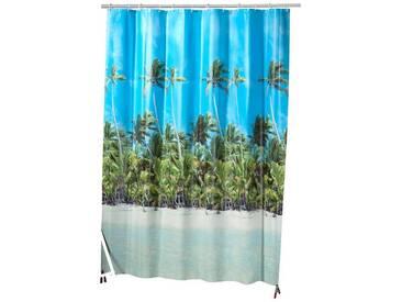 Kleine Wolke KLEINE WOLKE Duschvorhang »Beach«, Breite 180 cm, blau, blau