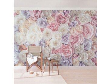 Bilderwelten Vliestapete Breit »Top Rosen Tapeten«, rot, Pastell Paper Art Rosen, 320x480 cm, Rot