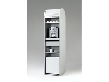 MS-Schuon Rolladenschrank Kaffeeschrank optional mit Kühlschrank »KLENK COLLECTION«, silberfarben, ohne Kühlschrank, silber / grün
