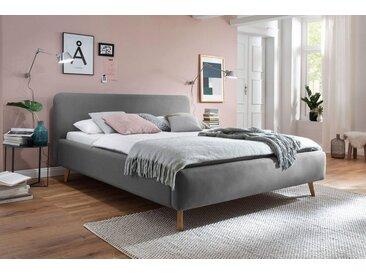 meise.möbel Polsterbett, Skandinavien Landhausstil, grau, hellgrau
