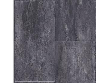 Andiamo ANDIAMO Vinyl-Boden »Coruna schwarz«, Meterware in 400 cm Breite, schwarz, 1 x 400 cm, schwarz