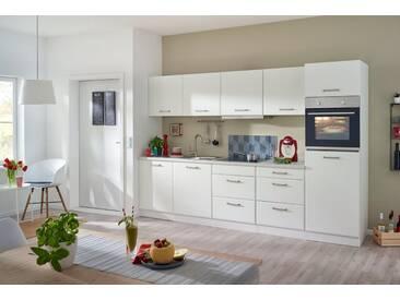 HELD MÖBEL Küchenzeile mit E-Geräten »Xanten«, Breite 300 cm, mit höhenverstellbaren Füßen und Softclose, weiß, nicht im Lieferumfang enthalten