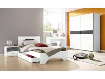 rauch PACK´S Jugendzimmer-Set »Noosa«, 4-teilig, grau, weiß/graumetallic